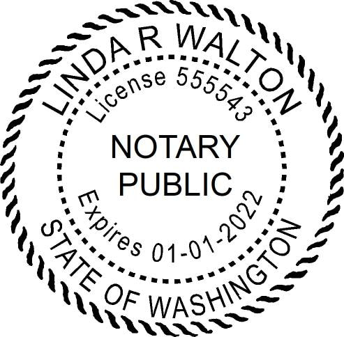 Washington State Notary Stamps - Stampadoodle & The Paper Cafe